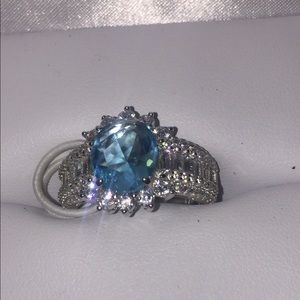 Jewelry - Blue sapphire sterling silver Ring